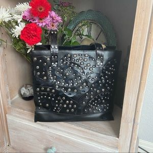 Patricia Nash Leather studded Tote Purse Handbag